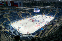 VTB Ice Palace venue of 2016 IIHF World Championship. Moscow stock photo