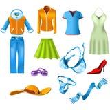 Vêtements de femme Photos stock