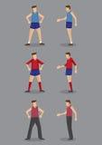 Vêtements de sport pour l'illustration de vecteur des hommes Images libres de droits