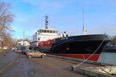 VTN-74 - the multipurpose vessel of complex port service of the project 03180 Stock Photo