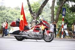 VTV kolarstwa turnieju Międzynarodowego †'tony Hoa Sen Filiżanka 2016 na Wrześniu 2, 2016 w Hanoi, Wietnam Zdjęcie Royalty Free