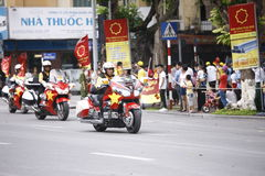 VTV kolarstwa turnieju Międzynarodowego †'tony Hoa Sen Filiżanka 2016 na Wrześniu 2, 2016 w Hanoi, Wietnam Fotografia Royalty Free