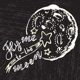 Vuéleme a la luna ilustración del vector