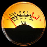 Vu meter. Of pre amp Stock Images