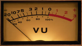 VU Meter illuminated Stock Photography