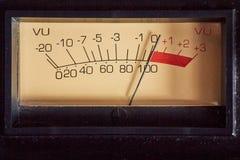 Vu-metermotsvarighet av ljudutrustning Royaltyfri Foto