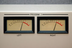 VU Meters at 0 Royalty Free Stock Images