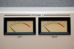VU Meters at -20 Royalty Free Stock Photos