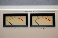VU Meters at -20 royalty free stock photos