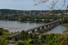 Vu sur le pont d'Oudon Photographie stock