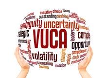 VUCA-Wortwolken-Bereichkonzept vektor abbildung