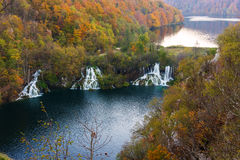 Vue à couper le souffle dans les lacs Plitvice Image stock