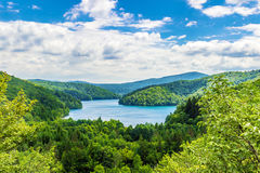 Vue à couper le souffle des lacs Plitvice Image libre de droits