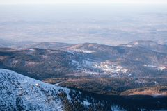 Vue à Karkonosze, Pologne Photo stock