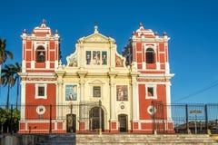 Vue à l'église d'EL Calvario à Léon - au Nicaragua images libres de droits