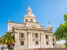 Vue à l'église de Memoria à Lisbonne, Portugal Image libre de droits
