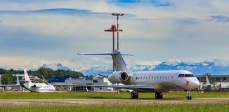Vue à l'aéroport de Zurich Photos stock