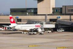Vue à l'aéroport de Zurich Photo stock