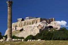 Vue à l'Akropolis d'Athènes photographie stock libre de droits