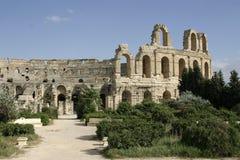 Vue à l'amphithéâtre en EL Jem Photo libre de droits