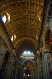 Vue à l'intérieur de la basilique de la rue Peter Photo stock
