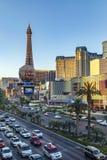 Vue à la bande, le mille célèbre de casino à Las Vegas Images stock