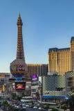 Vue à la bande, le mille célèbre de casino à Las Vegas Images libres de droits