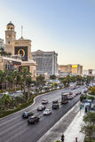 Vue à la bande, le mille célèbre de casino à Las Vegas Photographie stock libre de droits