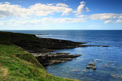 Vue à la côte atlantique irlandaise Image libre de droits