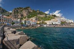Vue à la côte d'Amalfi, Italie Photo libre de droits