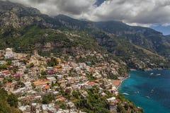 Vue à la côte d'Amalfi, Italie Photographie stock libre de droits