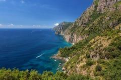 Vue à la côte d'Amalfi, Italie Photos libres de droits