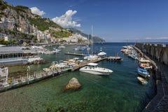 Vue à la côte d'Amalfi, Italie Images libres de droits