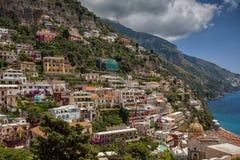 Vue à la côte d'Amalfi, Italie Images stock