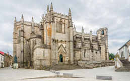 Vue à la cathédrale de Guarda - le Portugal photos stock
