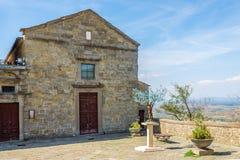 Vue à la chapelle de Jésus Cortona - en Italie photographie stock libre de droits