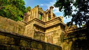 Vue à la citadelle de Yapahuwa, vieille capitale du Sri Lanka Images stock