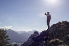 Vue à la montagne Photographie stock