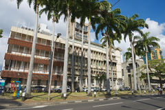 Vue à la rue à Port-Louis du centre, Îles Maurice Image libre de droits