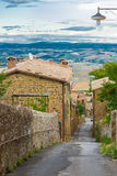 Vue à la vallée de Toscany Photos stock