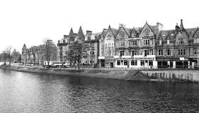 Vue à la vieille partie d'Inverness, Ecosse Photographie stock libre de droits