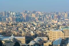 Vue à la ville de Bakou, Azerbaïdjan Photographie stock libre de droits