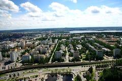 Vue à la ville de Tampere, Finlande Image stock