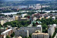 Vue à la ville de Tampere, Finlande Image libre de droits