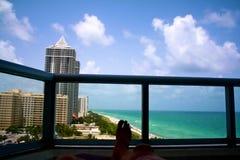 Vue à Miami image libre de droits