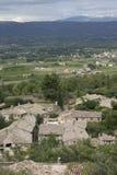 Vue à Mont Ventoux de Bonnieux dans le Luberon france Image stock