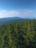 Vue à partir de dessus d'une montagne Images libres de droits