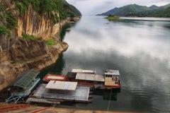Vue à partir de dessus de barrage Photo libre de droits