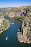 Vue à partir de dessus de canyon de Furnas - Capitolio - Minas Gerais Images libres de droits
