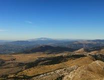 Vue à partir de dessus de Dinara (Croatie) Photos stock